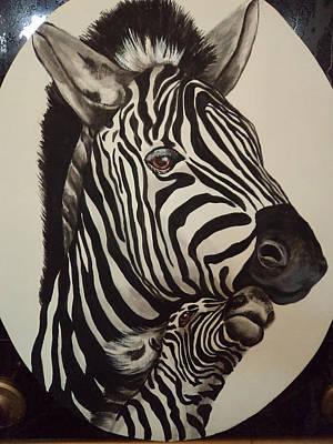 Painting - Zebras by Patricia Rachidi