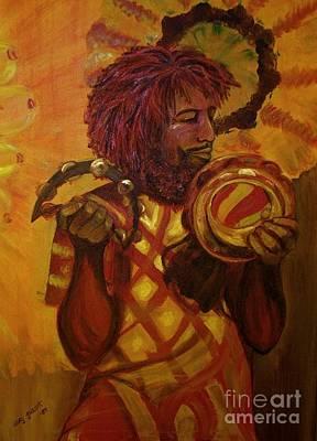 Jamaican Painting - Zebulon by Suzi Gessert