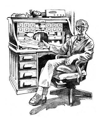 Resurrection Letterpress Drawing - Zedic by Dale Michels