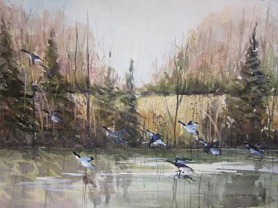 Painting - Zeeland Wetlands by Sandra Strohschein