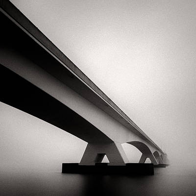 Abstract Seascape Photograph - Zeelandbrug 2 by Dave Bowman