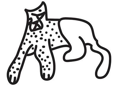 Cheetah Digital Art - Zef Cheetah by Jera Sky
