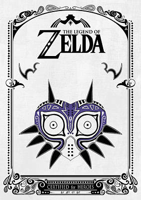 Zelda Legend - Majora's Mask Art Print by Art Et Be