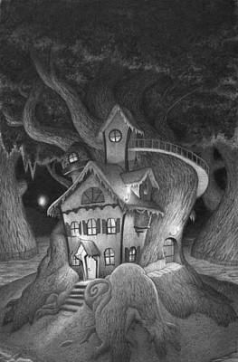 Fairy Drawing - Zelma's House by Richard Moore