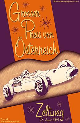 Zeltweg Austria Formula One Grand Prix 1964 Art Print by Georgia Fowler