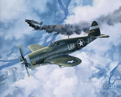 Military Aviation Art Painting - Zemke's Thunder by Randy Green