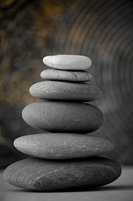 Zen Rocks Photograph - Zen Balance by Riad Belhimer
