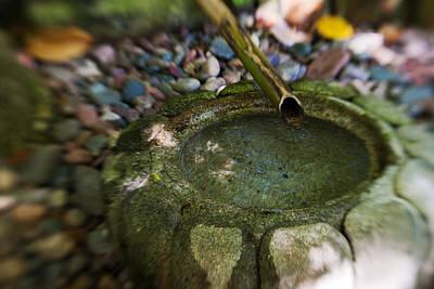 Photograph - Zen Bamboo Fountain by Renee Hong