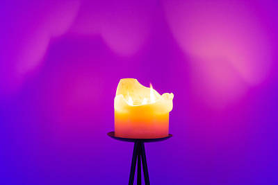 Photograph - Zen Candle by Semmick Photo