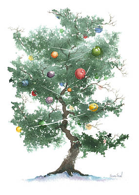 Painting - Zen Christmas Tree by Sean Seal