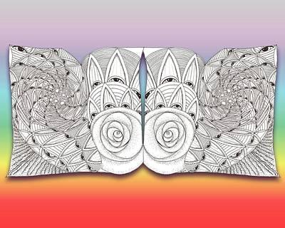 Observer Drawing - Zen Eyes by Melinda DeMent