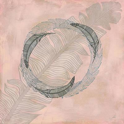 Zen Feather Circle I Art Print
