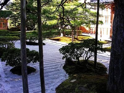 Photograph - Zen Garden Design -  Daisen-in At Daitoku-ji by Jacqueline M Lewis