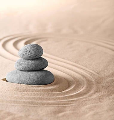Photograph - Zen Garden Stones Balance by Dirk Ercken