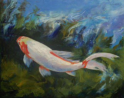 Pond Painting - Zen Koi by Michael Creese