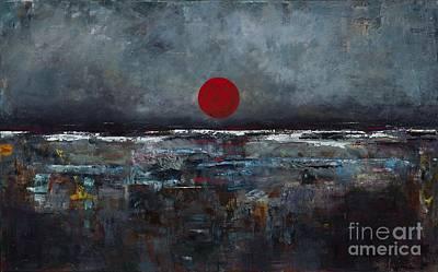 Zen Moon Art Print