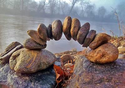 Zen Morning On The River Art Print