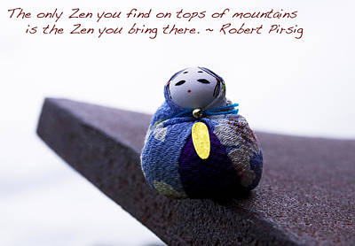 Zen On Tops Of Mountains Art Print by William Patrick