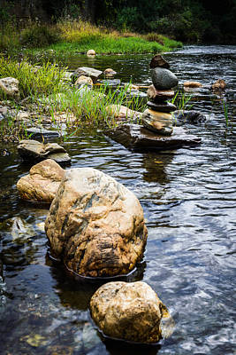 Mystic Setting Photograph - Zen River V by Marco Oliveira