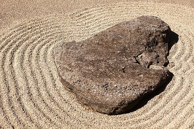 Photograph - Zen Rock 1 by David Coblitz