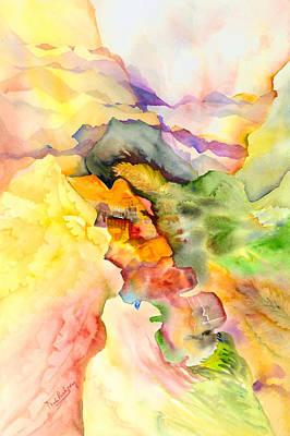 Mountain Valley Painting - Zen Scape by Neela Pushparaj