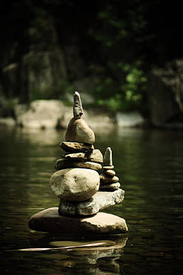 Stacked Stones Photograph - Zen by Shane Holsclaw