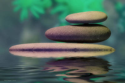 Photograph - Zen Stones 4 by WB Johnston