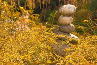 Photograph - Zen Stones by Crystal Hoeveler