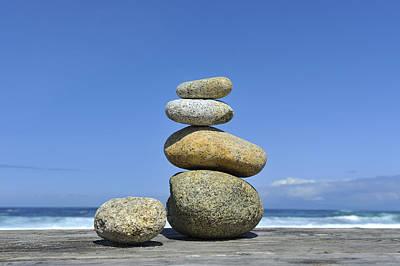 Zen Stones I Original by Marianne Campolongo