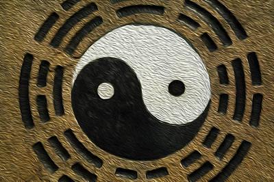 Zen Stones With Yin And Yang Art Print