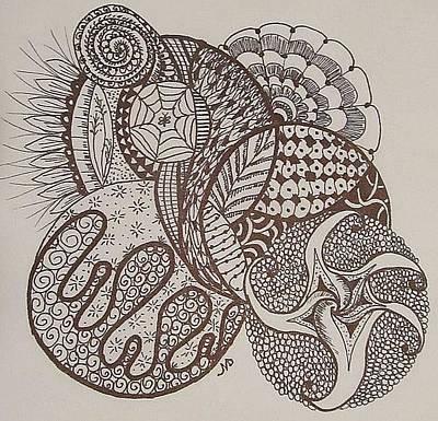 Painting - Zen Tangle Swirls  by Sharon Duguay