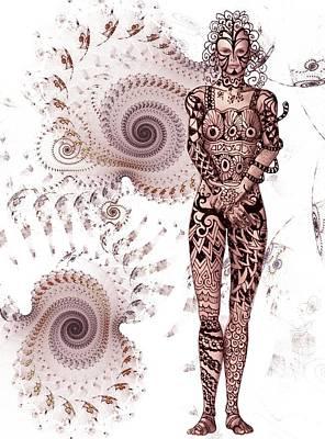 Digital Art - Zen Tangles by Nancy Pauling