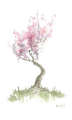 Print featuring the painting Zen Tree In Spring by Sean Seal