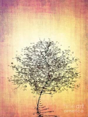 Zen Digital Art - Zen Tree by Klara Acel