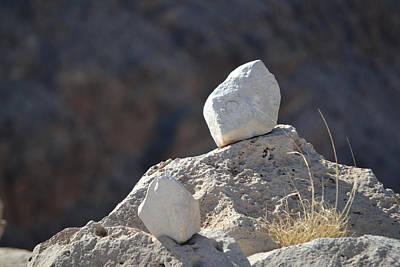 Photograph - Zen - White Meditation Rocks by rd Erickson