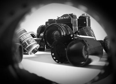 Photograph - Zenit Camera And 35mm Film by Vlad Baciu