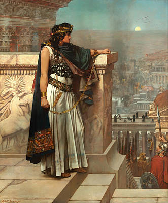 Antique Look Painting - Zenobia's Last Look On Palmyra by Mountain Dreams