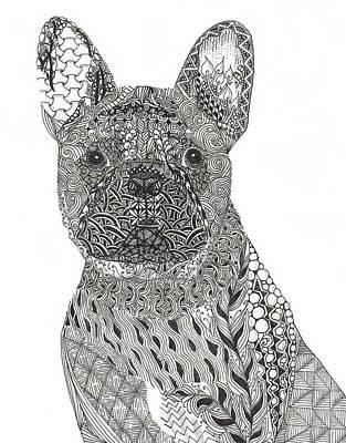French Bull Dog Wall Art - Photograph - Zentangle Inspired French Bull Dog by Dianne Ferrer