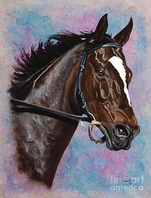 Zenyatta Painting - Zenyatta Horse Of The Year by Pat DeLong