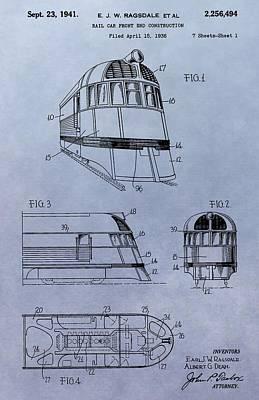Digital Art - Zephyr Train Patent by Dan Sproul