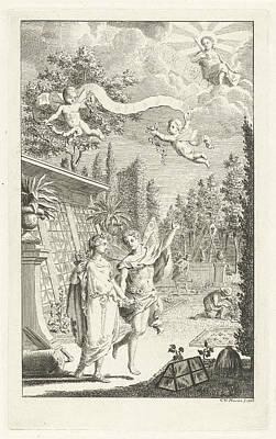 Zephyrus And Flora, Cornelis Van Noorde Art Print