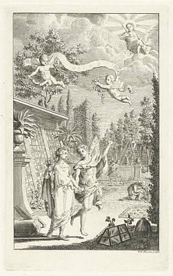 Zephyrus And Flora, Print Maker Cornelis Van Noorde Art Print