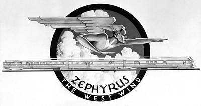 Zephyrus, The West Wind God Art Print by Underwood Archives