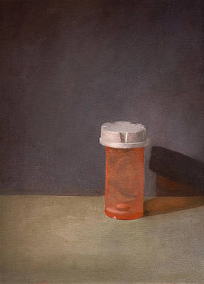 Pill Painting - Zero Refills Remaining by John Pacer
