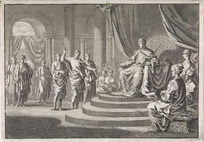 Zerubbabel For Darius, Jan Luyken, Pieter Mortier Art Print