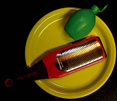 Fiestaware Photograph - Zest Of One Lime by David Dufresne