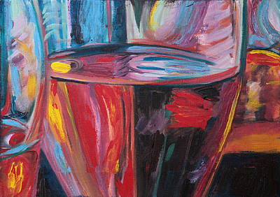 Glass Of Wine Painting - Zest by Trina Teele