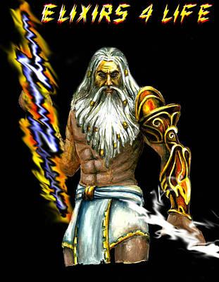Zeus Painting - Zeus by Harsh Malik
