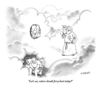 Zeus Plays Darts Art Print