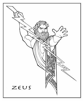 Drawing - Zeus by Steven Stines
